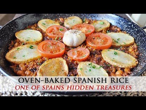 Oven Baked Spanish Rice - Arroz al Horno Vegan Recipe