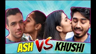 KHUSHI CHALLENGED BY ASH (Who Gets More Kisses ) !