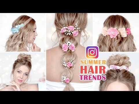 SUMMER hairstyles: INSTAGRAM trends for medium/long hair tutorial