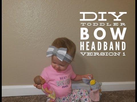 DIY Toddler Headband (bow)!