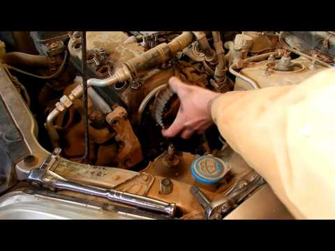 Replacing the Timing belt, water pump, idler pulley, camshaft seal - 2002 Honda Civic