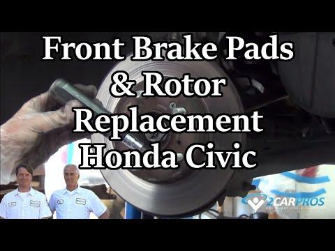 Front Brake Pads & Rotor Replacement Honda Civic 2006-2011