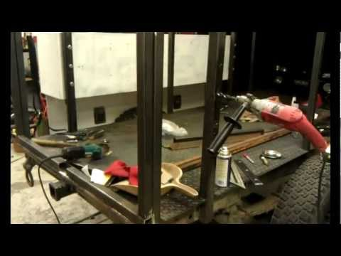 Bugout Trailer Part 2 mounting the boxes, fenders