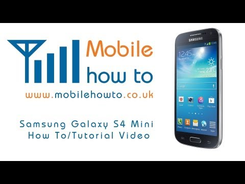 How To Customise Apps and Widgets On The Home Screen - Samsung Galaxy S4 Mini