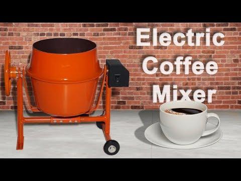 How to make Electric Coffee Mixer // Concrete Mixer