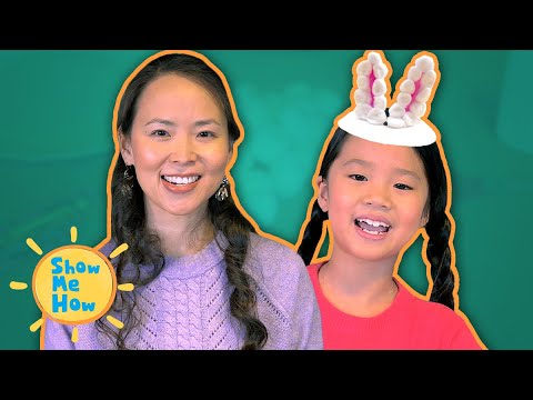 Animal Craft DIY Paper Plate Bunny Ears | Show Me How by Mother Goose Club Schoolhouse