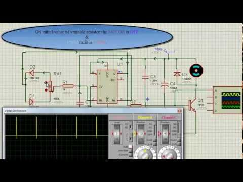 TISHITU 555 timer PWM (Pulse Width Generator) for motor speed controller