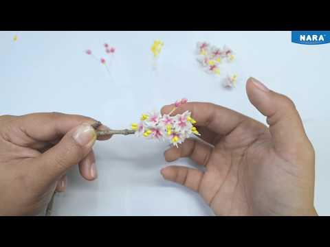 Making Sakura Flowers from clay | Flower Clay Tutorial