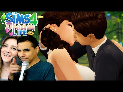 GETTING MARRIED 👰💕🤵 // The Sims 4 Dream Life 👨👩👧👦 Ep. 3