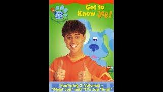 Blue's Clues:Get To Know Joe! 2002 DVD Menu Walkthrough
