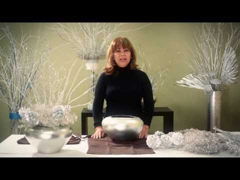 How To Design Simple Winter Wedding Centerpieces - Part 2