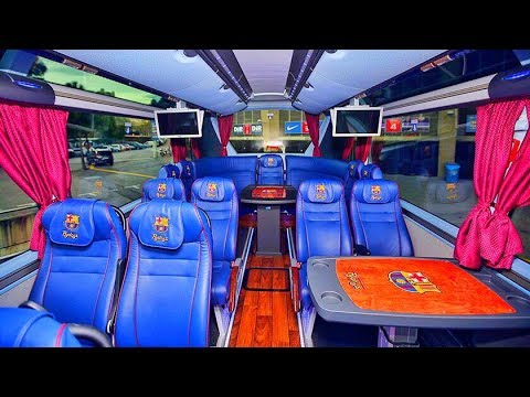 EXCLUSIVE: INSIDE THE FC BARCELONA OFFICIAL BUS || CAMP NOU