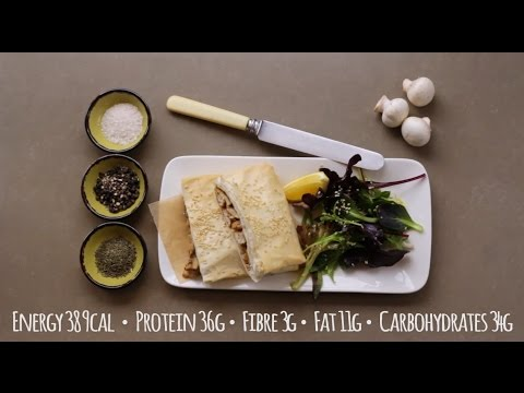 Chicken & Mushroom Filo Parcels