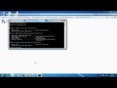 How to set static ip address on a windows