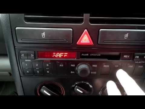 Audi A2 Concert Radio SAFE mode code problems
