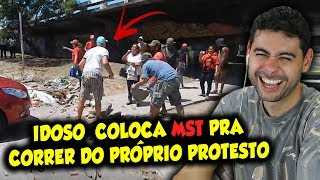 IDOSO coloca MST pra correr do próprio protesto
