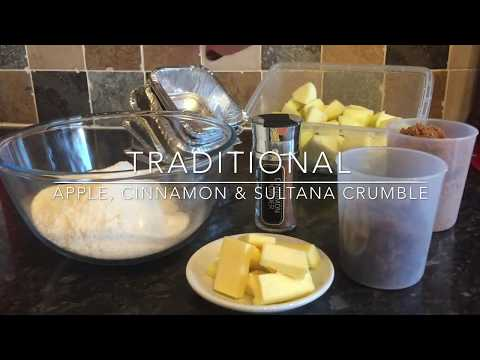 Traditional Apple & Cinnamon Crumble. Recipe & Cook With Me!