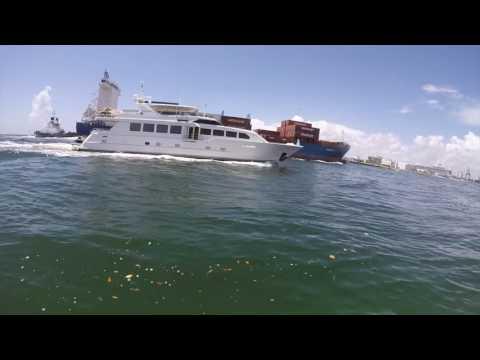 Port Everglades Fort Lauderdale.  Riding bumps.