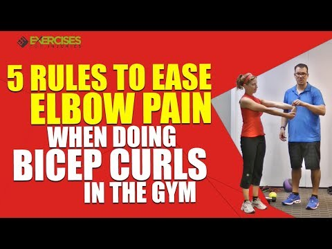 5 Rules to Ease Elbow Pain When Doing Bicep Curls In The Gym