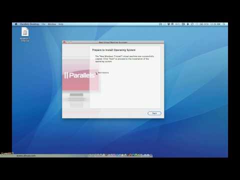 Installing Windows 7 on Parallels Desktop for Mac version 5