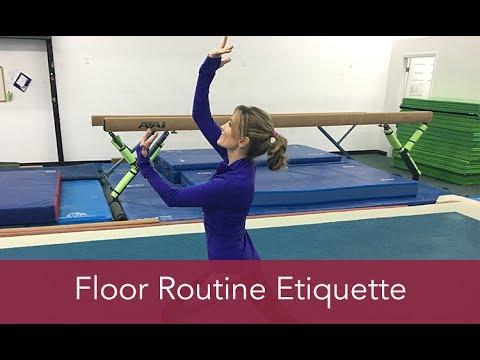 Gymnastics How To: Floor Routine Etiquette