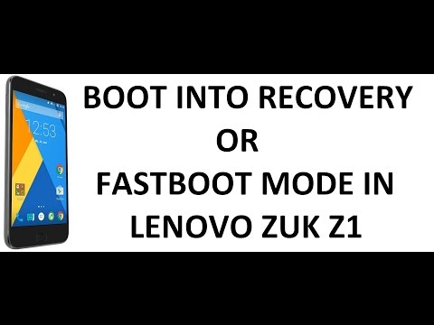 [HOW-TO] BOOT INTO RECOVERY AND FASTBOOT MODE | ZUK Z1 | D Tech Terminal