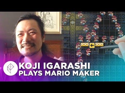 Castlevania's Koji Igarashi Makes a Super Mario Maker Level - Devs Make Mario