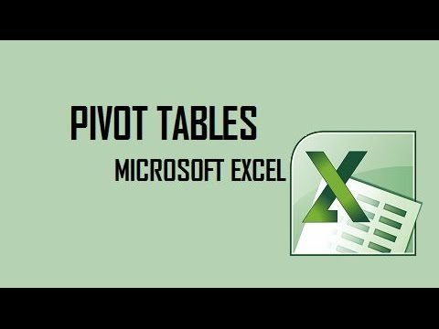 How to use Pivot Tables in Excel 2010