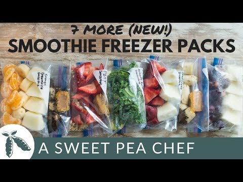 7 More (New!) Smoothie Freezer Packs | How To Meal Prep | A Sweet Pea Chef