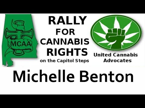 Michelle Benton speaks at the rally for Cannabis Rights September 8, 2016