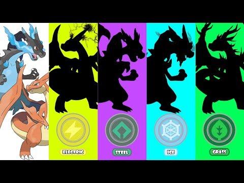 Pokemon Type Swap #21: Mega Charizard X & Y Electric, Ice, Steel, Grass
