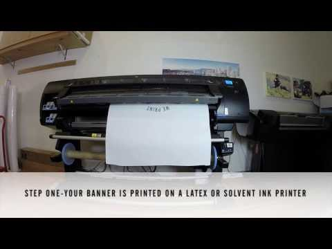 How Banner Stands Are Made, Retractable Banner Stand Printing At Clubcard | Clubcard TV