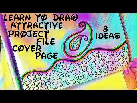 Project File Cover Decoration Ideas ! 3 attractive project file Ideas ! Handmade paper decoration !