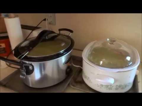 split pea & ham soup cooked in crock pot