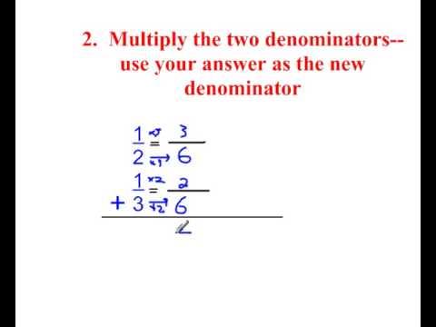 3 Ways to find a common Denominator