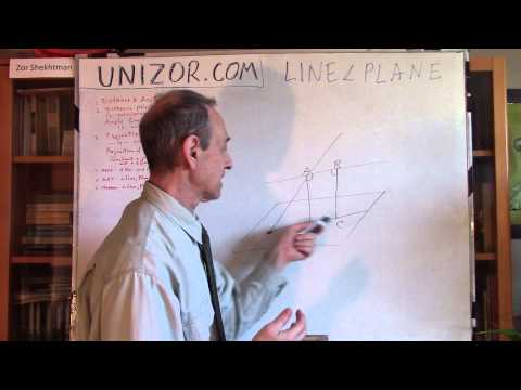 Unizor - Geometry3D - Lines and Planes - Angles between Lines and Planes