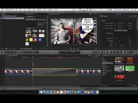 [DP669] Freeze Frames: Comic Pack - Final Cut Pro X : Apple Motion Edition - Tutorial