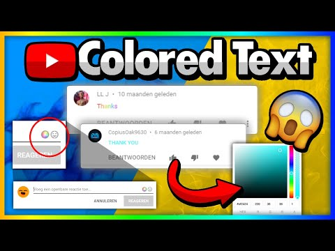 How to get COLORED text in YT comments! [TUTORIAL] (Watch till end!)