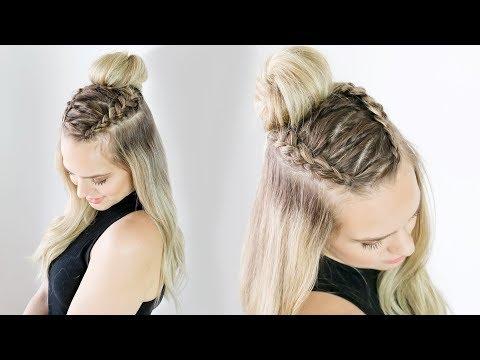 Zig Zag Half Updo on Long and Short Hair!  - KayleyMelissa