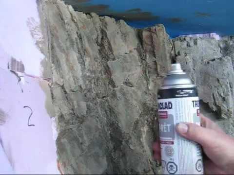 Carving Foam Rocks 2