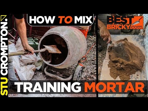 how to mix training mortar with hydrated lime for bricklaying