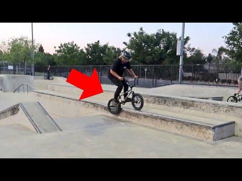 MINI BMX BIKE TRICKS!