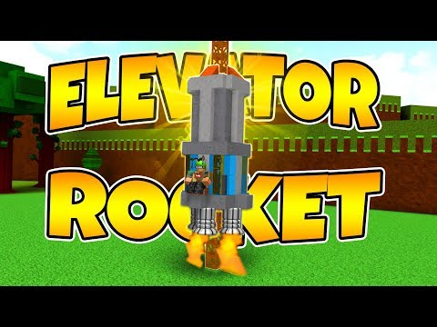 Building A Elevator ROCKET! Build A Boat For Treasure | Roblox