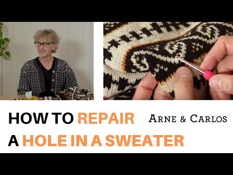 How to repair a hole in a sweater by ARNE & CARLOS