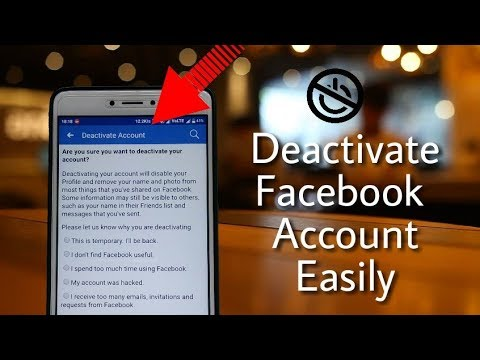 How to  deactivate/remove facebook account | Easy way | in Hindi