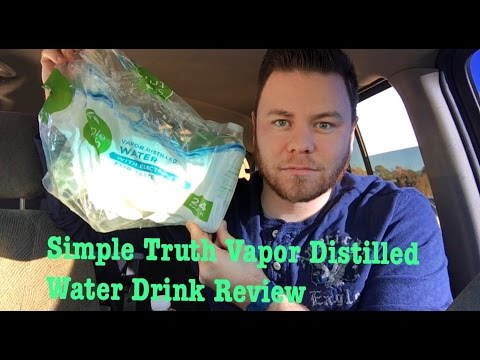 SIMPLE TRUTH VAPOR DISTILLED WATER COMPARE TO SMART WATER | THE SHOWSTOPPER SHOWS