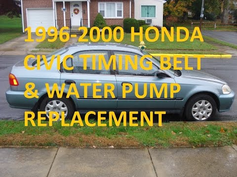 Replace a Honda Civic Timing Belt and Water Pump 1999