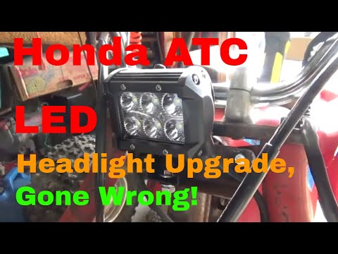 1985 Honda ATC 200S Smoked a LED Headlight, Not Surprised!