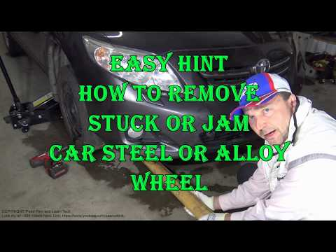How to remove Stuck or Jam car steel Wheel or alloy Wheel