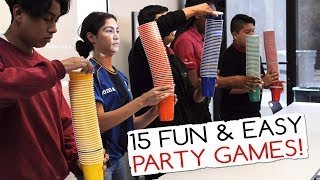 Download 15 Fun & Easy Party Games For Kids And Adults (Minute to Win It Party) Video